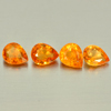 1.87 Ct. 4 Pcs. Pear Shape Natural Mandarin Orange Spessartine Garnet Namibia