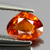 1.08 Ct. Pear Natural Reddish Orange Spessartine Garnet Gem Namibia