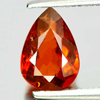 1.44 Ct. Natural Gemstone Pear Orange Spessartine Garnet Unheated