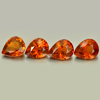 3.65 Ct. 4 Pcs. Pear Natural Orange Spessartine Garnet Namibia
