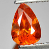 0.91 Ct. Pear Natural Gem Orange Spessartine Garnet From Namibia