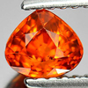 0.94 Ct. Good Pear Natural Gem Orange Spessartine Garnet Namibia