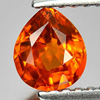 0.75 Ct. Alluring Pear Natural Gem Orange Spessartine Garnet Namibia