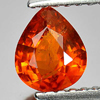 0.81 Ct. Charming Pear Natural Gem Orange Spessartine Garnet Namibia