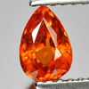 Good Natural Gem 0.79 Ct. Pear Shape Orange Spessartine Garnet Namibia