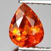 0.93 Ct. Delightful Pear Natural Gem Orange Spessartine Garnet Namibia