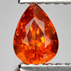Natural Gemstone 0.64 Ct. Good Pear Shape Orange Spessartine Garnet