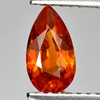 0.95 Ct. Beautiful Pear Natural Gem Orange Spessartine Garnet Namibia