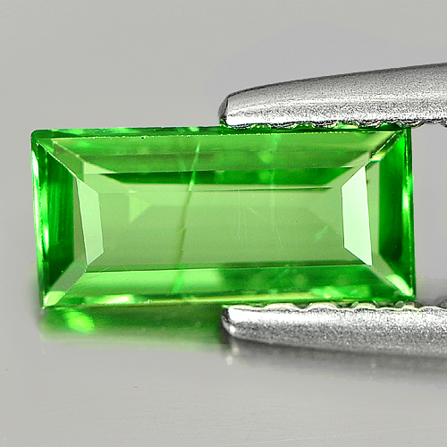 0.58 Ct. Baguette Shape Natural Green Tsavorite Garnet