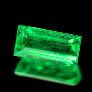 0.45 Ct. Baguette Shape Natural Green Tsavorite Garnet