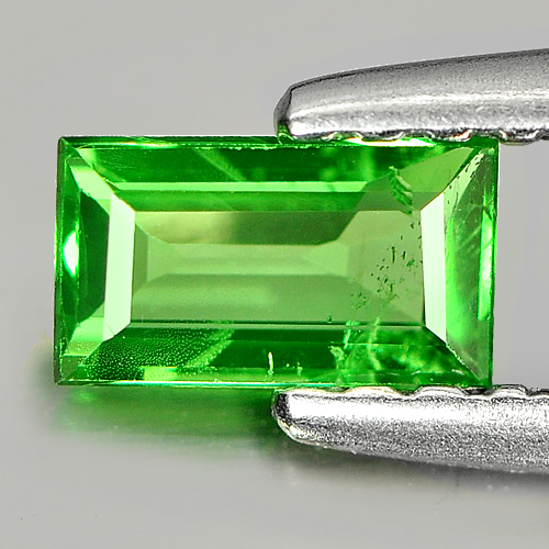 0.35 Ct. Baguette Shape Natural Gemstone Green Tsavorite Garnet Unheated