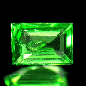 0.27Ct Baguette Natural Green Tsavorite Garnet Unheated