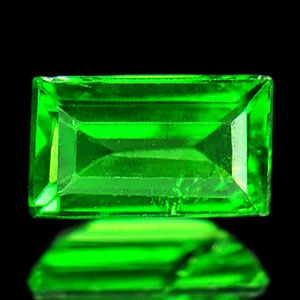 0.34Ct Baguette Natural Green Tsavorite Garnet Unheated