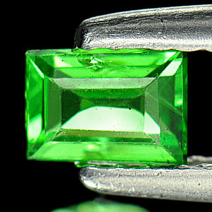 0.39Ct Baguette Natural Green Tsavorite Garnet Unheated