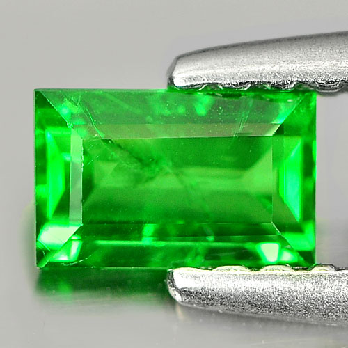 0.44 Ct. Baguette Shape Natural Green Tsavorite Garnet