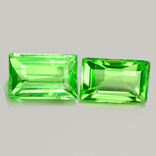 0.65 Ct. 2 Pcs. Natural Green Tsavorite Garnet Unheated