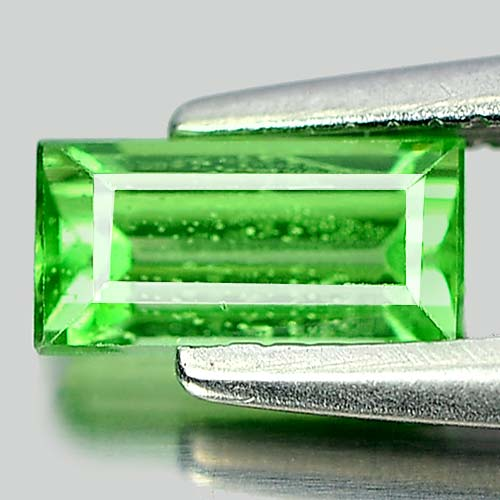 0.57 Ct. Charming Baguette Natural Gem Green Tsavorite Garnet Tanzania