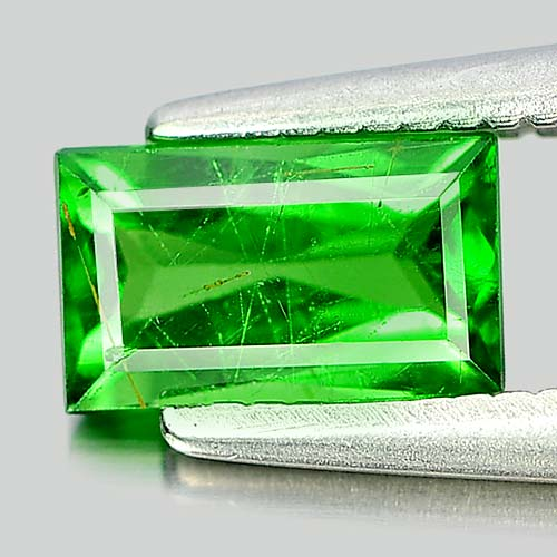 0.69 Ct. Baguette Shape Natural Gemstone Green Tsavorite Garnet From Tanzania
