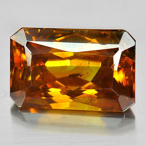 Certified 3.06 Ct. Octagon Natural Gem Yellow Sphalerite Unheated