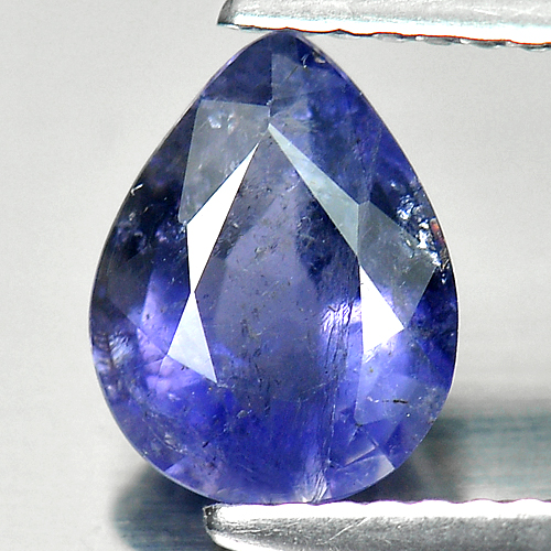 1.04 Ct. Pear Natural Violet Blue Iolite Madagascar