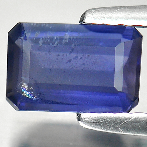 0.71 Ct. Natural Gemstone Violet Blue Iolite Octagon Shape Unheated