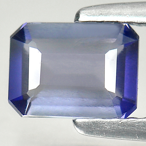 0.63 Ct. Natural Gemstone Violet Blue Iolite Octagon Shape Unheated