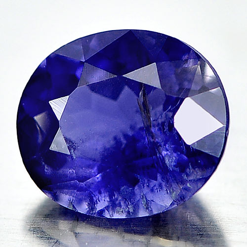 1.73 Ct. Attractive Natural Violet Blue Iolite Oval Shape Gemstone