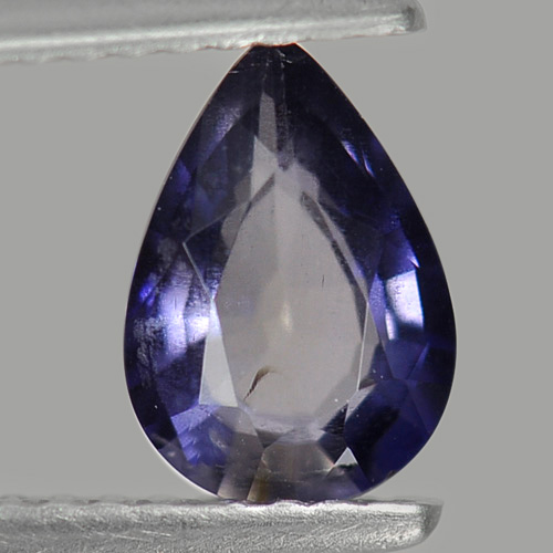0.90 Ct. Pear Shape Natural Gemstone Violet Blue Iolite Unheated