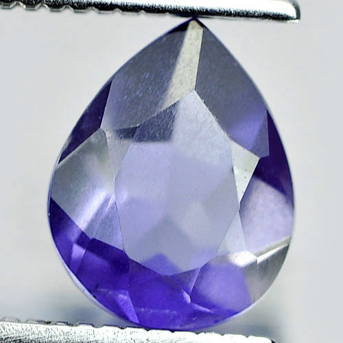 0.87 Ct. Pear Shape Natural Gem Violet Blue Iolite From Madagascar