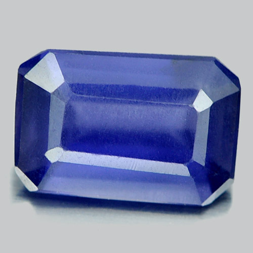 Unheated 0.79 Ct. Octagon Shape Natural Gemstone Violet Blue Iolite