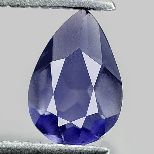0.62 Ct. Very Good Pear Shape Natural Gem Violet Blue Iolite Madagascar