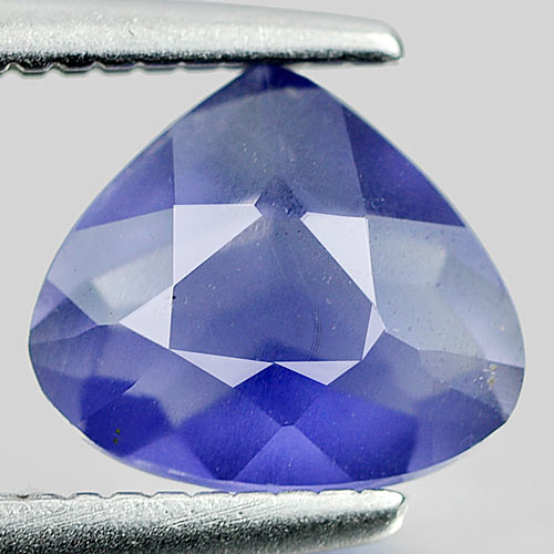 0.74 Ct. Pear Shape Natural Violet Blue Iolite Madagascar Unheated