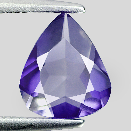 0.94 Ct. Charming Pear Shape Natural Violet Blue Iolite Madagascar Unheated