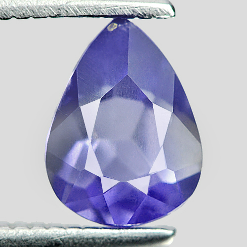 0.71 Ct. Delightful Pear Shape Natural Violet Blue Iolite Madagascar Unheated