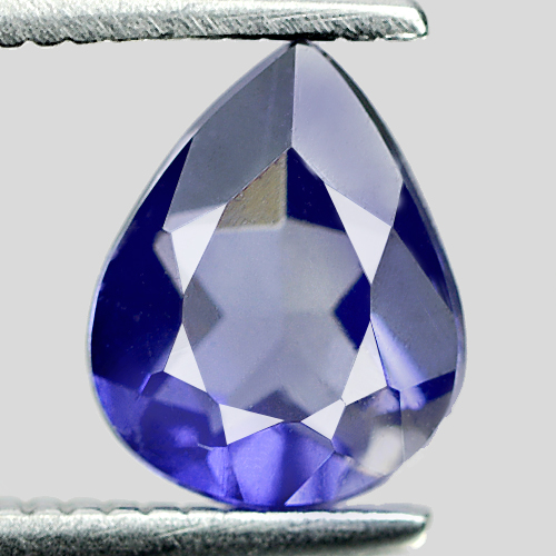 0.81 Ct. Beauteous Pear Shape Natural Violet Blue Iolite Madagascar