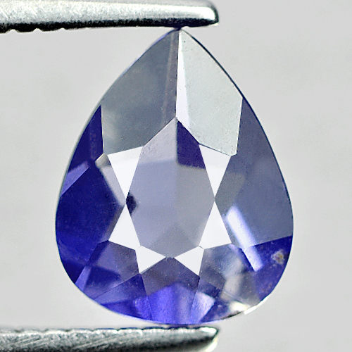 0.70 Ct. Charming Pear Shape Natural Violet Blue Iolite Madagascar