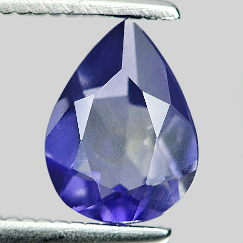 0.77 Ct. Alluring Pear Shape Natural Violet Blue Iolite Madagascar