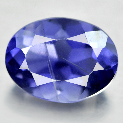 0.95 Ct. Oval Natural Gem Violet Blue Iolite From Madagascar Unheated
