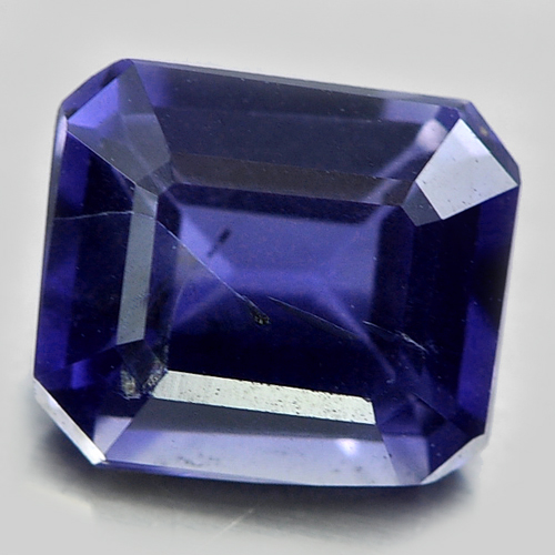0.80 Ct. Octagon Shape Natural Gemstone Violet Blue Iolite Unheated