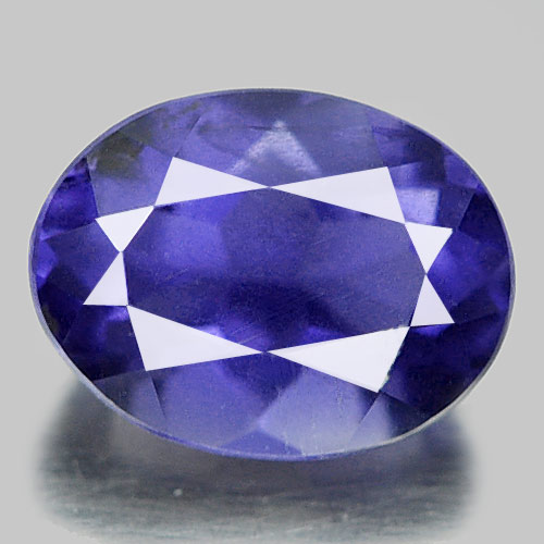 Unheated 0.69 Ct. Oval Natural Violet Blue Iolite Madagascar