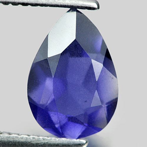 0.86 Ct. Good Pear Shape Natural Gem Violet Blue Iolite Madagascar