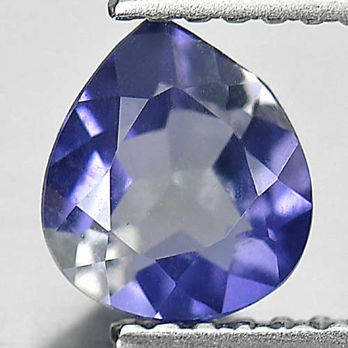 0.80 Ct. Alluring Pear Natural Gem Violet Blue Iolite Madagascar