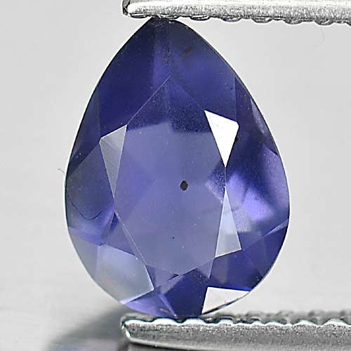 0.90 Ct. Charming Pear Natural Gem Violet Blue Iolite Madagascar