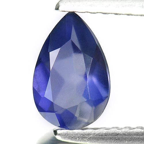 0.88 Ct. Pear Shape Natural Gem Violet Blue Iolite From Madagascar