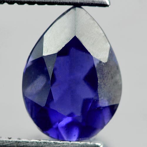 0.94 Ct. Pear Shape Natural Gemstone Violet Blue Iolite Unheated