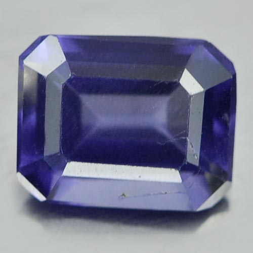 0.69 Ct. Beautiful Octagon Shape Natural Violet Blue Iolite Unheated