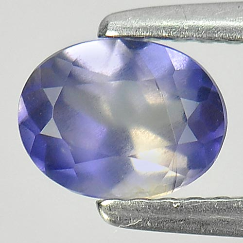 Unheated 0.73 Ct. Oval Shape Natural Gem Violet Blue Iolite Madagascar