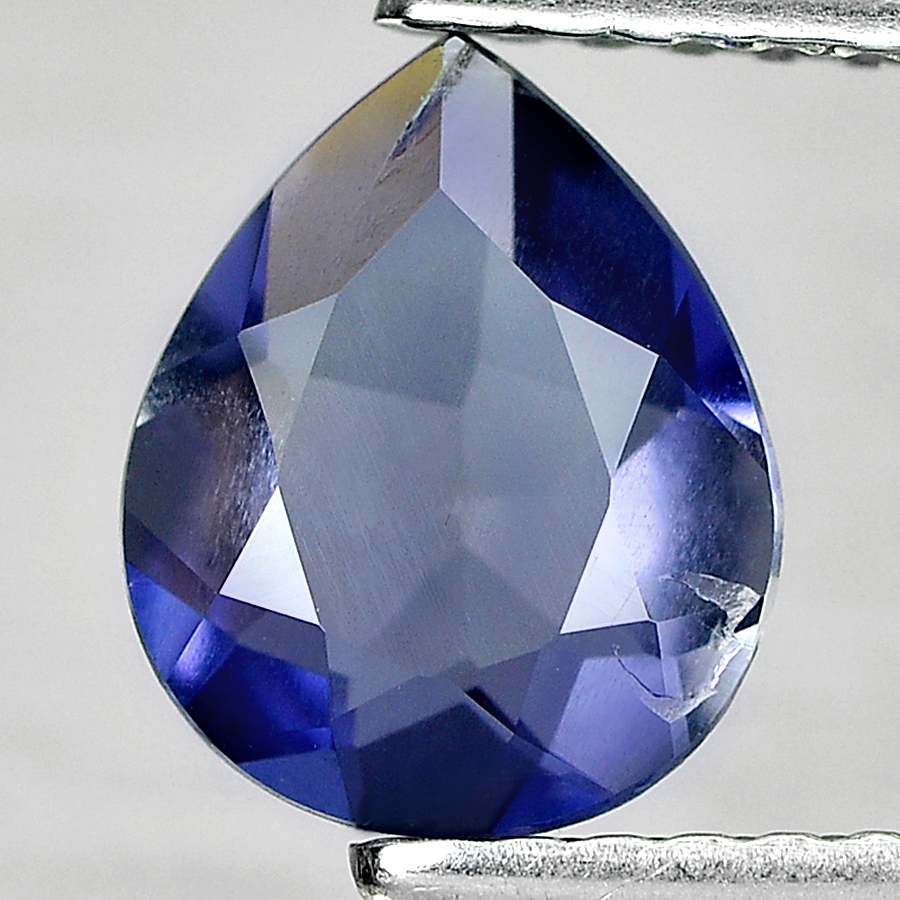 0.87 Ct. Nice Cutting Pear Shape Natural Gemstone Violet Blue Iolite Unheated