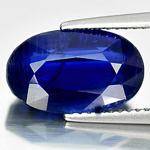Unheated 6.00 Ct. Natural Gemstone Blue Kyanite Oval Shape From Sri Lanka