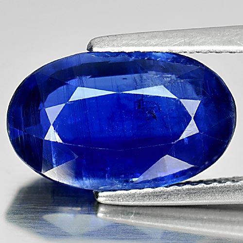 6.29 Ct. Oval Shape 14.5 x 9 Mm. Natural Gemstone Blue Kyanite Unheated